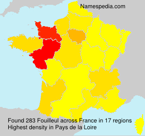 Surname Fouilleul in France