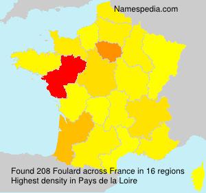 Surname Foulard in France