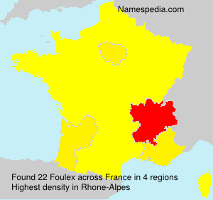 Surname Foulex in France