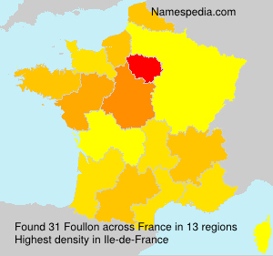 Surname Foullon in France