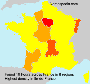 Surname Foura in France