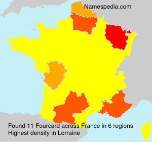 Surname Fourcard in France