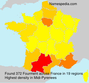 Surname Fourment in France