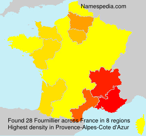 Surname Fournillier in France