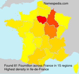 Surname Fournillon in France