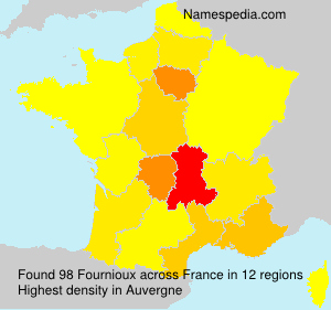 Surname Fournioux in France