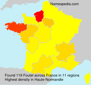 Surname Foutel in France
