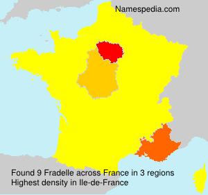Surname Fradelle in France