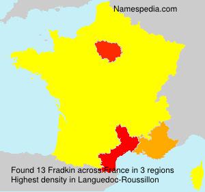 Surname Fradkin in France