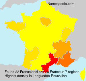 Surname Francalanci in France