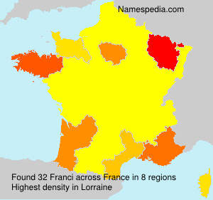 Surname Franci in France