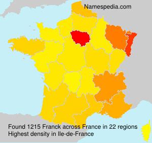 Surname Franck in France