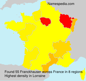 Surname Franckhauser in France