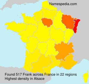 Familiennamen Frank - France
