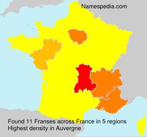Familiennamen Franses - France