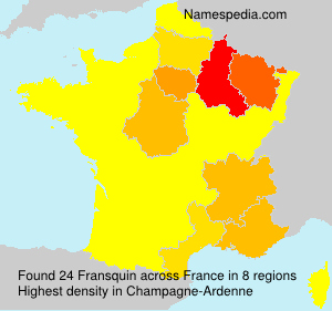 Surname Fransquin in France