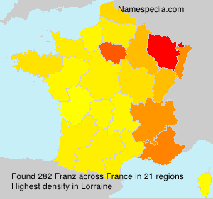 Surname Franz in France