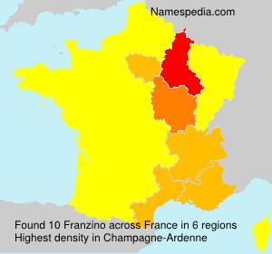 Surname Franzino in France