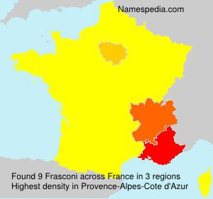 Surname Frasconi in France