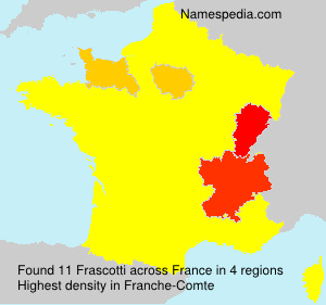 Surname Frascotti in France