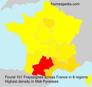 Surname Frayssignes in France