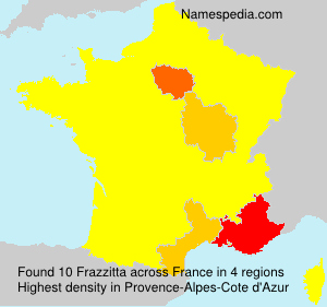 Surname Frazzitta in France