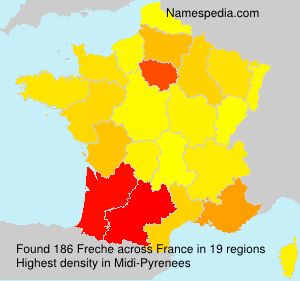 Surname Freche in France