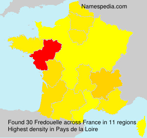 Surname Fredouelle in France