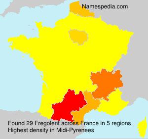 Surname Fregolent in France
