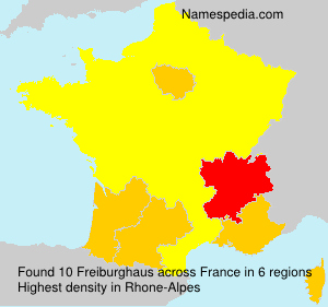 Surname Freiburghaus in France