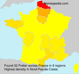Surname Frelier in France
