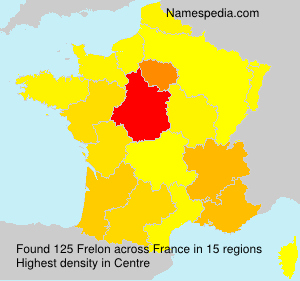 Surname Frelon in France