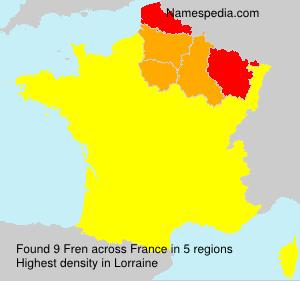 Surname Fren in France