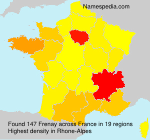 Surname Frenay in France