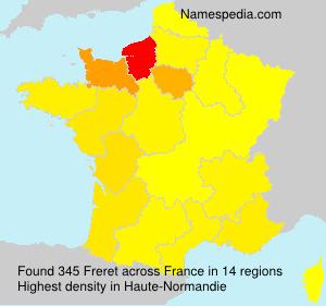 Surname Freret in France