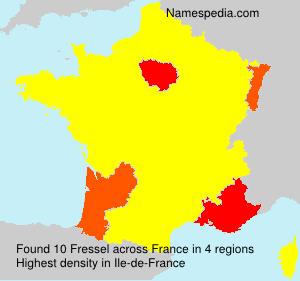 Familiennamen Fressel - France