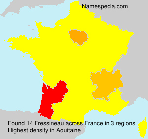 Surname Fressineau in France