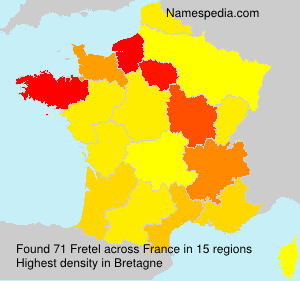Surname Fretel in France