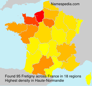 Surname Fretigny in France