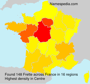 Surname Frette in France