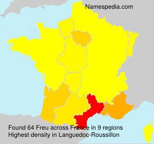 Familiennamen Freu - France
