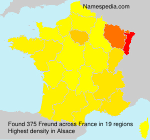 Surname Freund in France