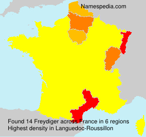 Surname Freydiger in France