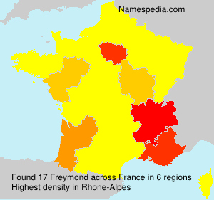 Surname Freymond in France