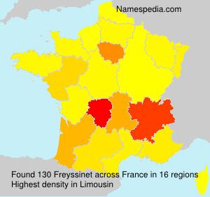 Surname Freyssinet in France