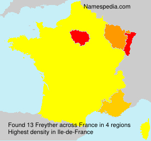 Surname Freyther in France