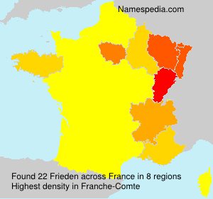 Surname Frieden in France