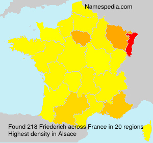 Surname Friederich in France