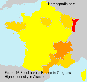 Surname Friedl in France