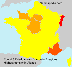 Surname Friedt in France